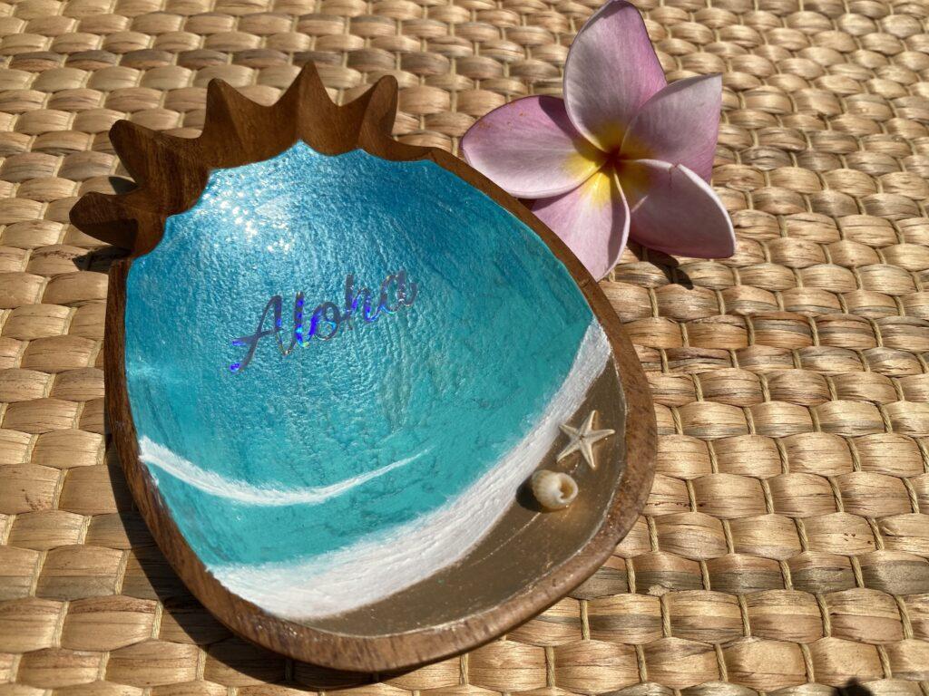 ウッドパイナップル小 Aloha L039